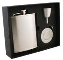 Visol Edge Satin Stainless Steel 6oz Stellar Flask Gift Set