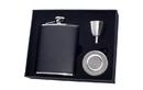 Visol Ano Leather 6oz Stellar Flask Gift Set