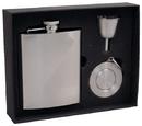 Visol Duo Two-Tone Stainless Steel 8oz Stellar Flask Gift Set