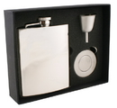 Visol Ray Mirror Finish Stainless Steel 8oz Stellar Flask Gift Set