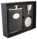 Visol Corspa Black Snakeskin Design 6oz Stellar Flask Gift Set