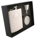 Visol Brilliance Silver Snakeskin Design 6oz Stellar Flask Gift Set