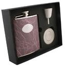 Visol Lighting Stainless Steel 6oz Stellar Flask Gift Set