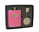 Visol Britney Hot Pink Leather 6oz Stellar Flask Gift Set