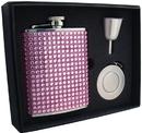 Visol Kylie 6oz Pink Bling Stellar Flask Gift Set