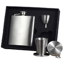 Visol Derek Satin Finish 8oz Stellar Flask Gift Set