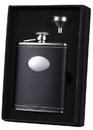 Visol Eclipse 6 oz Black Leather Liquor Flask Gift Set