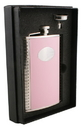 Visol Supermodel Pink Leather Hip Flask Gift Set - 8 oz