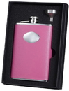 Visol Marilia Hot Pink 8 oz Flask Gift Set