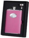 Visol Marilia Hot Pink 8 oz Flask Gift Set