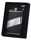 Visol Descent Black Leather 8oz Flask Gift Set