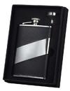 Visol Descent Black Leather 8oz Flask Gift Set