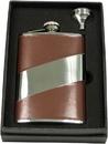 Visol Nathan Brown Leather 8oz Flask Gift Set