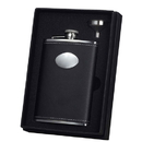Visol Eclipse Z Black Leather 8oz Flask Gift Set