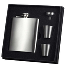 Visol Derek Satin Finish 8oz Deluxe Flask Gift Set