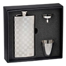 Visol Checkered Slim 5 oz Liquor Flask Gift Set