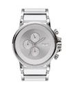 Vestal PLA016 Plexi Acetate Watch - Silver/Silver/White/Minimalist