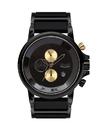 Vestal PLA024 Plexi Acetate Watch - Black/Gold/Minimalist