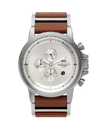 Vestal PLE034 Plexi Leather Watch - Silver/Brown/Brushed