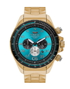 Vestal ZR3030 ZR3 Watch - Gold/Teal/Polished