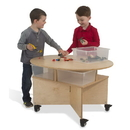 Whitney Brothers WB1816 Mobile Collaboration Table With Trays