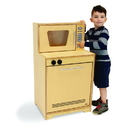 Whitney Brothers WB6410N Contemporary Microwave And Dishwasher: Natural
