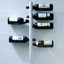 Aspire Wall-Mounted Stainless Steel 12 Bottle Wine Rack 1-1/5