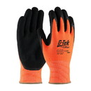 West Chester 16-340OR G-Tek PolyKor Hi-Vis Seamless Knit PolyKor Blended Glove with Double-Dipped Nitrile Coated MicroSurface Grip on Palm & Fingers