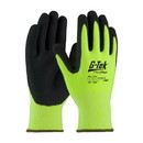 West Chester 16-343LG G-Tek PolyKor Hi-Vis Seamless Knit PolyKor Blended Glove with Double-Dipped Nitrile Coated MicroSurface Grip on Palm & Fingers