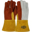 West Chester 2086GLF Ironcat Premium Heavy Split Cowhide Foundry Glove with Cotton Lining and Kevlar Stitching - Leather Gauntlet Cuff