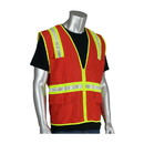 West Chester 300-1000 PIP Non-ANSI Surveyor's Style Safety Vest with a Solid Front, Mesh Back and Prismatic Tape