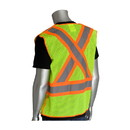 West Chester 302-0211 PIP ANSI Type R Class 2 and CAN/CSA Z96 Two-Tone X-Back Breakaway Mesh Vest