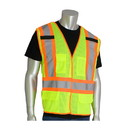 West Chester 302-0212 PIP ANSI Type R Class 2 Two-Tone Five Pocket Breakaway Mesh Vest