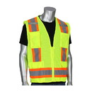 West Chester 302-0500M PIP ANSI Type R Class 2 Two-Tone Eleven Pocket Mesh Surveyors Vest
