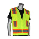 West Chester 302-0500 PIP ANSI Type R Class 2 Two-Tone Eleven Pocket Surveyors Vest with Solid Front and Mesh Back