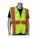 West Chester 302-0590 PIP ANSI Type R Class 2 Expandable Two-Tone Mesh Breakaway Vest