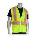 """West Chester 302-0600D PIP ANSI Type R Class 2 Two-Tone Mesh Vest with """"D"""" Ring Access"""