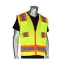 West Chester 302-0700 PIP ANSI Type R Class 2 Two-Tone Ten Pocket Surveyors Tech Vest