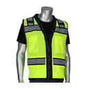 """West Chester 302-0800D PIP ANSI Type R Class 2 Black Two-Tone Eleven Pocket Tech-Ready Mesh Surveyors Vest with """"D"""" Ring Access"""