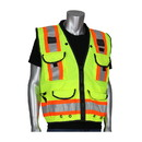 West Chester 302-0900 PIP ANSI Type R Class 2 Two-Tone Fifteen Pocket Tech-Ready Ripstop Surveyors Vest with Mesh Back