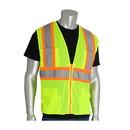 West Chester 302-MAPM PIP ANSI Type R Class 2 Two-Tone Eleven Pocket Premium Mesh Surveyors Vest