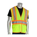West Chester 302-MVAT PIP ANSI Type R Class 2 Two-Tone Three Pocket Mesh Vest