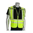 West Chester 302-PSV-BLK PIP ANSI Type P Class 2 Public Safety Vest - SECURITY Logo