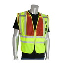 West Chester 302-PSV-RED PIP ANSI Type P Class 2 Public Safety Vest - FIRE Logo