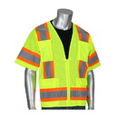 West Chester 303-0500M PIP ANSI Type R Class 3 Two-Tone Eleven Pocket Mesh Surveyors Vest