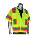 West Chester 303-0500 PIP ANSI Type R Class 3 Two-Tone Surveyor Eleven Pocket Vest