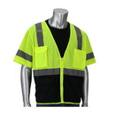 West Chester 303-0710B PIP ANSI Type R Class 3 Five Pocket Value Mesh Vest with Black Bottom Front
