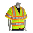 West Chester 305-HSVPFR PIP ANSI Type R Class 3 FR Treated Two-Tone Mesh Vest