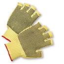West Chester PVC-Dotted Regular Weight Kevlar Fingerless Gloves