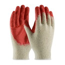 West Chester 39-C121 PIP Seamless Knit Cotton / Polyester Glove with Latex Coated Smooth Grip on Palm & Fingers - Economy Grade